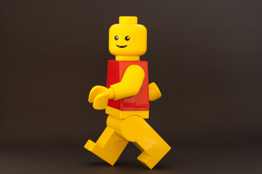 LEGO minifigure walking