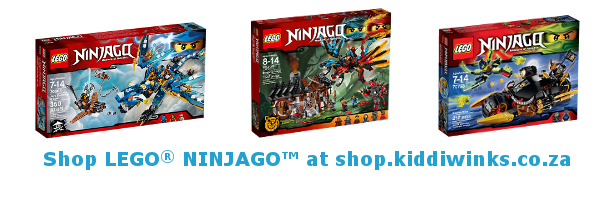 Kiddiwinks LEGO Ninjago footer