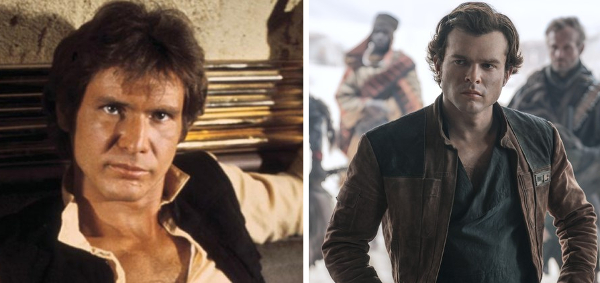 harrison ford versus Alden Ehrenreich playing Han Solo in Star Wars
