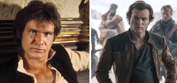 harrison ford versus Alden Ehrenreich playing Han Solo in Star Wars