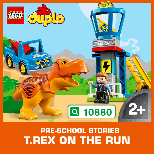 Enter Jurassic World with your child and recreate all the drama and tension from the movie, with this exciting set!