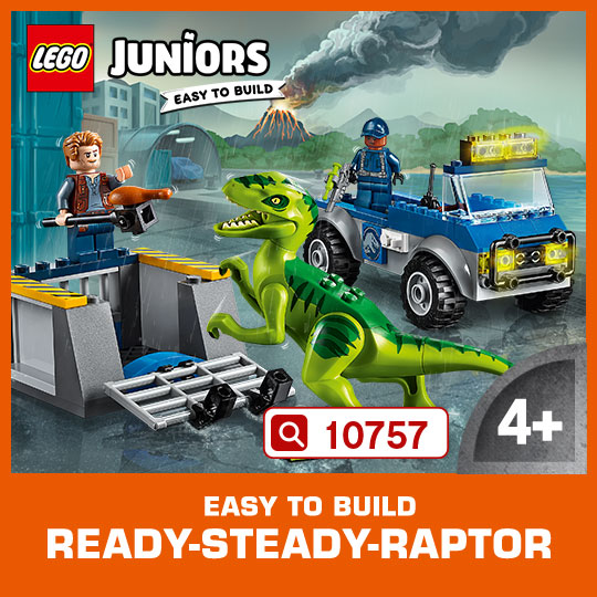Introduce your child to the thrill of exploration and a LEGO® Juniors Jurassic World adventure