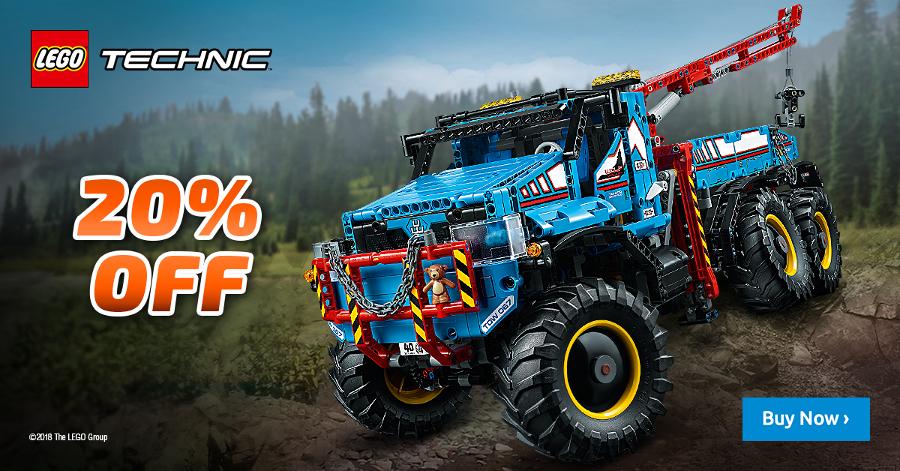 Get 20% off all LEGO® Technic™ and Power Functions sets, as well as the LEGO® BOOST Creative Toolbox and LEGO® MINDSTORMS® EV3, until the end of June!
