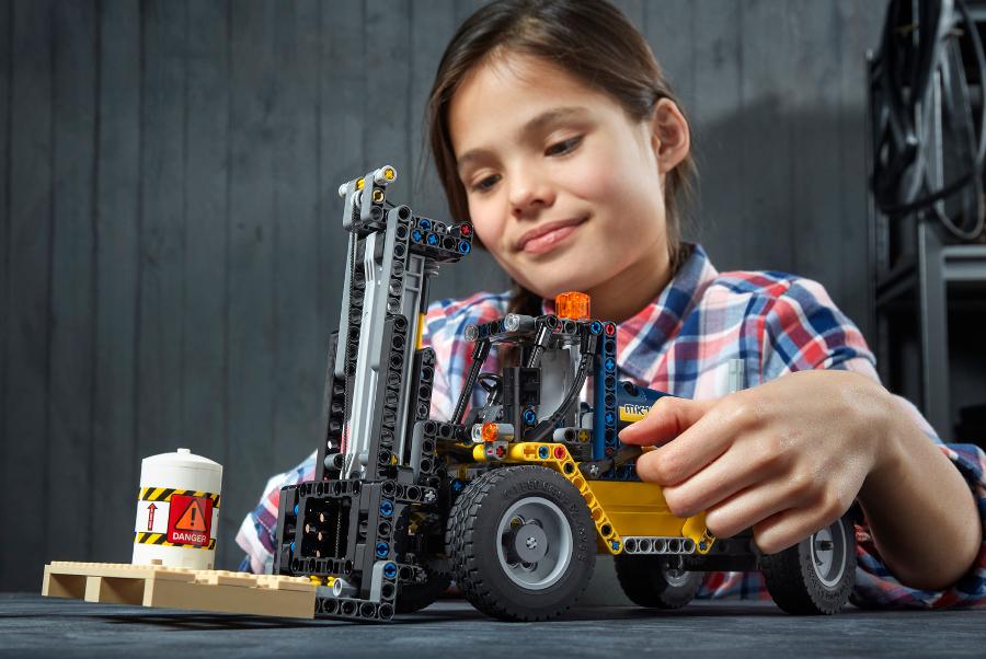 Girls love building LEGO® sets too!